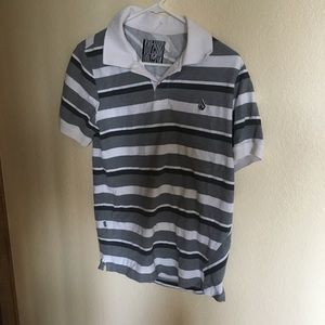 Volcom striped collared shirt